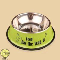 Bát ăn inox cho chó mèo