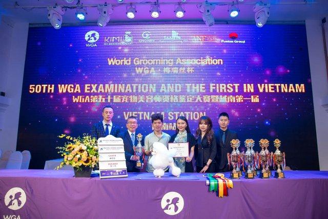 Học Viên Mai Son được đào tạo bởi Kimi Pet Đã đạt giải Cao Level A của thế giới